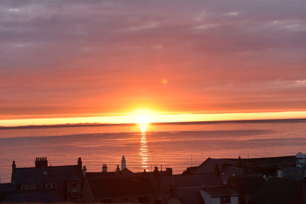The Knowes Hotel and Restaurant Aberdeenshire Sunset View