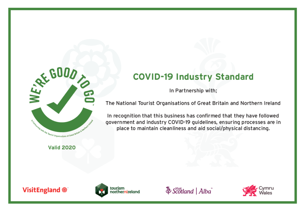 The Knowes Hotel and Restaurant Aberdeenshire COVID 19 Good to go Certificate